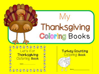 Thanksgiving Coloring Books (2 Books, 1 Product)