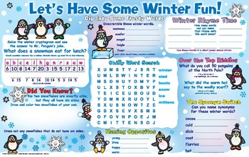 Let's Have Some Winter Fun Activity Mat