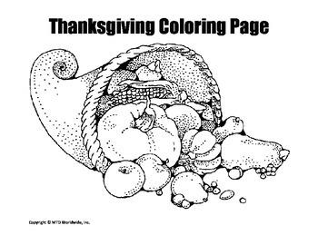 Thanksgiving Coloring Page Bundle