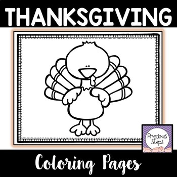 Thanksgiving Letter ID Coloring Pages