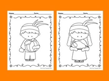 Thanksgiving Coloring Pages - 8 different designs