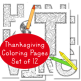 Thanksgiving Coloring Pages, Bulletin Board, Fall Autumn