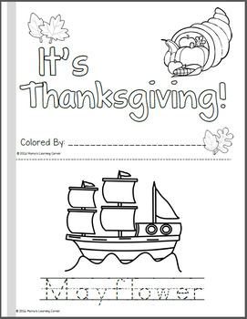 Thanksgiving Coloring Pages - Create a Mini-Book!