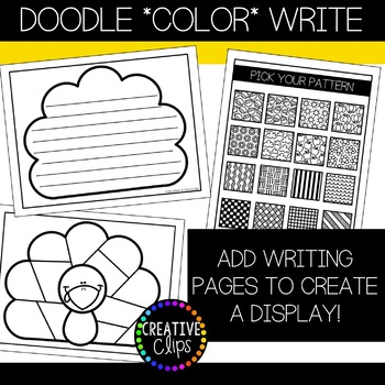 Thanksgiving Coloring Pages: Doodle Shape Turkey {Made by Creative Clips}