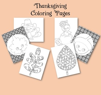 Thanksgiving Coloring Pages ~ Fun Fall Activity