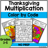 Thanksgiving Coloring Pages Multiplication Color by Number