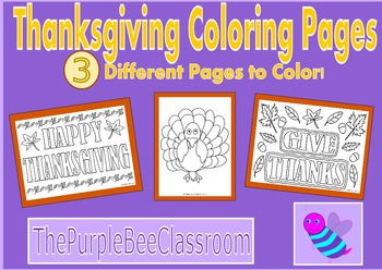 Thanksgiving Coloring Pages (Set #1)