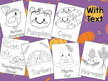 Thanksgiving Coloring Pages - The Crayon Crowd, pilgrims, pumpkins