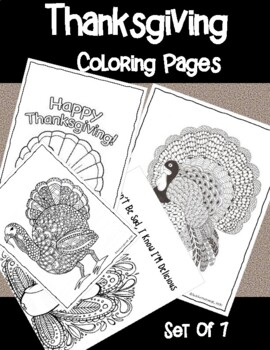 Adult Coloring Pages Thanksgiving Worksheets Teaching Resources Tpt