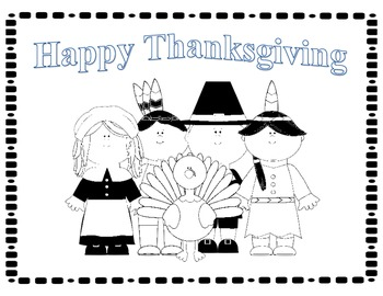 Thanksgiving Coloring Place Mat Freebie