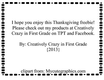 Thanksgiving Coloring Place Mat Freebie