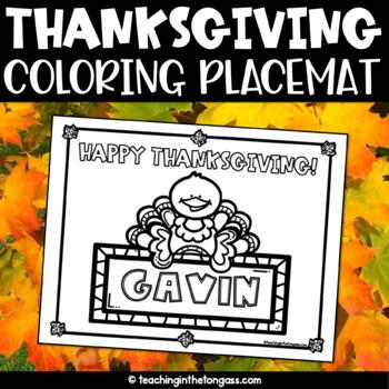 Thanksgiving Placemat Free