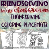 Thanksgiving Coloring Placemats for Kids - Friendsgiving -