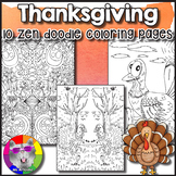 Thanksgiving Coloring Pages, Zen Doodles.