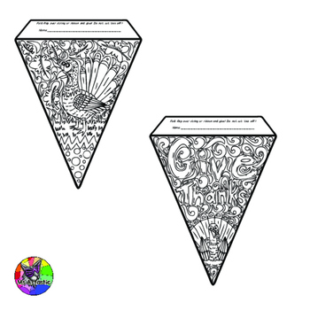 Thanksgiving Coloring Pages Pennant Banner by Ms Artastic | TpT | 350x350