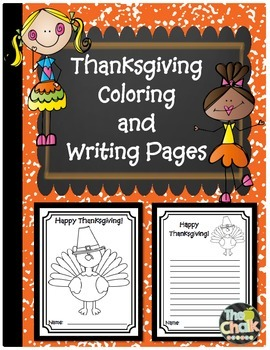 Thanksgiving Coloring and Writing Pages