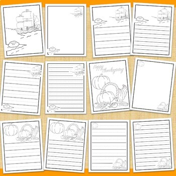 Thanksgiving Coloring and Writing Pages FREEBIE - HAPPY THANKSGIVING!