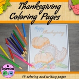 Thanksgiving Coloring and Writing Pages FREEBIE - HAPPY TH