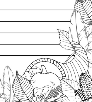 Thanksgiving Coloring/Writing Paper