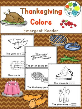 Thanksgiving Colors Emergent Reader