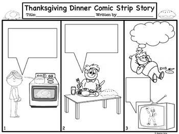 Thanksgiving Comic Strip Writing
