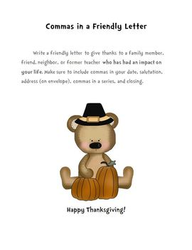 Thanksgiving Commas