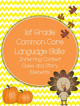 Thanksgiving: Common Core 1st Grade Pack of Skills