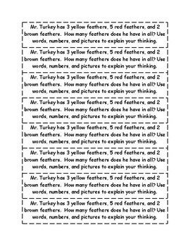 Thanksgiving Common Core Math Journals