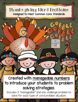 Thanksgiving Common Core Math Problems