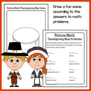 Thanksgiving Math Puzzles - 1st Grade Common Core