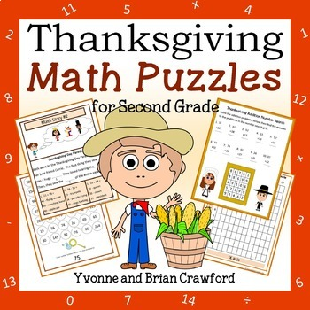 Thanksgiving Math Puzzles - 2nd Grade Common Core by ...