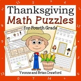 Thanksgiving Math Puzzles - 4th Grade Common Core
