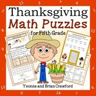 Thanksgiving Math Puzzles - 5th Grade Common Core
