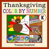 Thanksgiving Color by Number (kindergarten)  Color by Number, Addition & Shapes