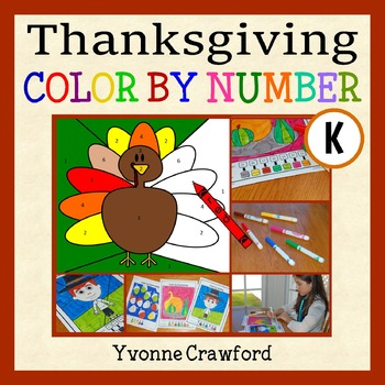 Thanksgiving Color by Number (kindergarten)  Color by Numb