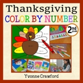 Thanksgiving Color by Number (second grade)  Color by Addition and Subtraction