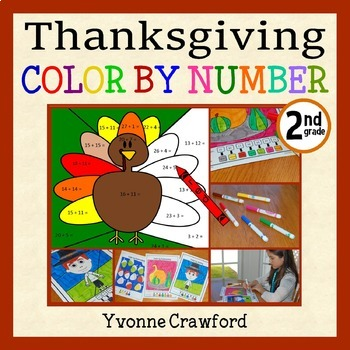 Thanksgiving Color by Number (second grade)  Color by Addi