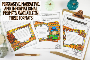 Thanksgiving Writing: Opinion, Informative, Narrative