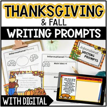 Thanksgiving Writing: Opinion, Informative, Narrative