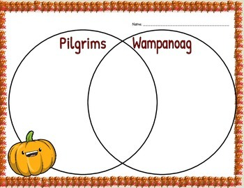 Thanksgiving Compare and Contrast Venn Diagrams