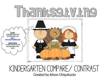 Thanksgiving Compare & Contrast Smartboard Activity