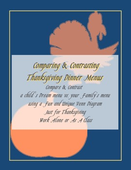 Thanksgiving Compare and Contrast Activity for Groups or I