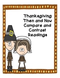 Thanksgiving Compare and Contrast: Then and Now Reading Pa