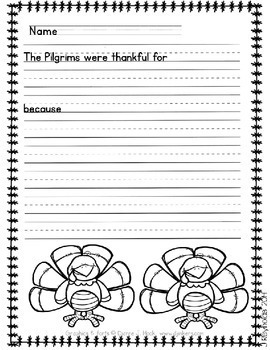 Thanksgiving Compare and Contrast Writing Pack--Who-o is Thankful?