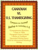 Thanksgiving: Compare/Contrast Canada & U.S. 4-9