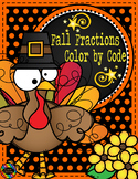 Thanksgiving Comparing, Classifying Fractions/Equivalent Fractions Color by Code