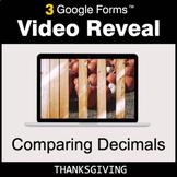 Thanksgiving: Comparing Decimals - Google Forms Math Game