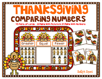 Thanksgiving Comparing Numbers Activity