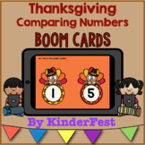 Thanksgiving Comparing Numbers Boom Cards