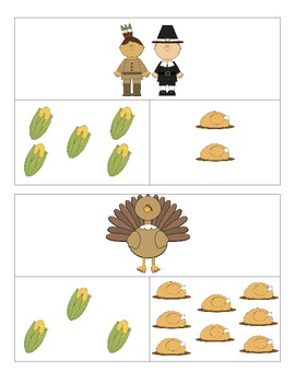 Thanksgiving Comparing Quantities